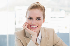 Close up portrait of elegant businesswoman smiling Royalty Free Stock Photos