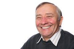 Close up portrait of an elegant senior man isolated on white bac Royalty Free Stock Image