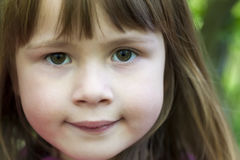 Close-up portrait of face of a little pretty girl Royalty Free Stock Images