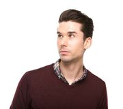 Close up portrait of a fashionable young man Stock Photography