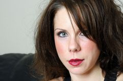 Close up portrait of female Royalty Free Stock Photo