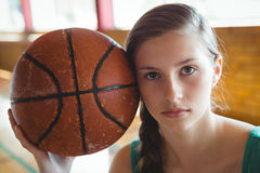 Close up portrait of female basketball player Stock Images