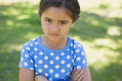 Close-up portrait of a girl at park Stock Images
