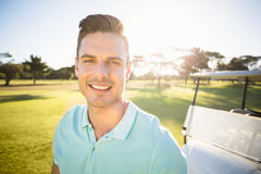 Close-up portrait of golfer man Royalty Free Stock Image