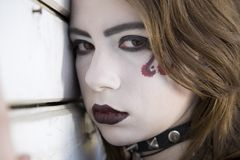 Close-up Portrait Of Gothic Girl Stock Images