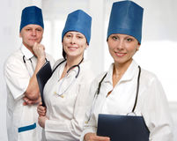 Close up portrait group of doctors Royalty Free Stock Photo