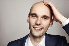 Handsome Bald Smiling Man Royalty Free Stock Photos