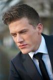 Close Up Portrait of a Handsome Businessman Stock Photos