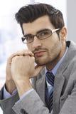 Close-up portrait of handsome businessman Stock Images