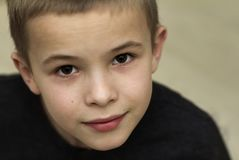 Close up portrait of handsome little boy.  Royalty Free Stock Images