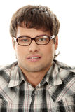 Close up portrait of handsome man in glasses Stock Photo