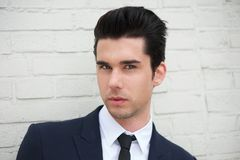 Close up portrait of a handsome young businessman outdoors Royalty Free Stock Image
