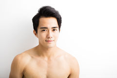Close up portrait of  handsome young man Royalty Free Stock Image