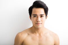 Close up portrait of  handsome young man Stock Image