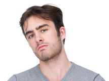 Close up portrait of a handsome young man Stock Photos