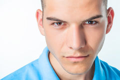 Close up portrait of a handsome young man Royalty Free Stock Photos
