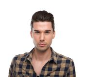 Close up portrait of a handsome young modern man Stock Images