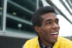 Close up Portrait of a Happy African American Man Stock Photos