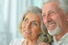 Portrait of a happy senior couple Royalty Free Stock Images