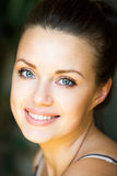 Close up portrait of happy smiling young woman Royalty Free Stock Photography