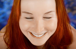 Close-up portrait of a happy woman. Royalty Free Stock Photo