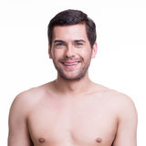 Close-up portrait of  happy young man. Stock Photography