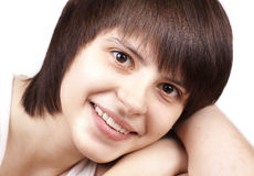 Close up portrait of happy young woman Royalty Free Stock Photography