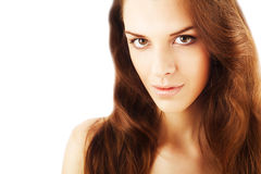 Close up portrait of healthy pretty beautiful woman Royalty Free Stock Photos