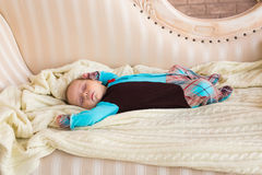 Close-up portrait of infant baby boy sleeping Royalty Free Stock Photos