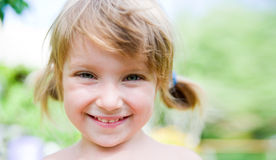 Close-up portrait of  liitle girl Royalty Free Stock Images