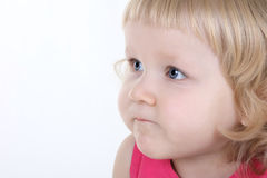Close up portrait of little blue-eyed girl Royalty Free Stock Image
