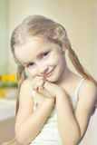 Close up portrait of little cute blond girl Royalty Free Stock Photos