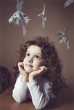 Close up portrait of a little girl Royalty Free Stock Images