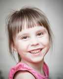 Close-up portrait of a little girl. Stock Images