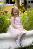 Close up, portrait of little red headed girl Royalty Free Stock Photography
