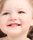 Close up portrait of little smiling child Royalty Free Stock Image