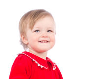 Close up portrait of little smiling child Stock Photography