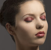 Close-up portrait of make-up girl Royalty Free Stock Photography