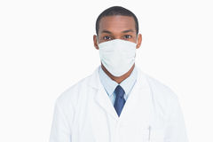 Close up portrait of a male doctor wearing mask Stock Image