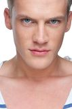 Close Up Portrait of a Male Fashion Model Stock Photography