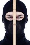 Close up portrait of male ninja Stock Images