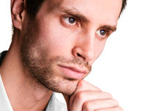 Close-up portrait of a man Stock Photos