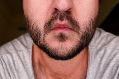 Close up portrait of a man stock photography