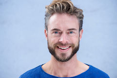 Close up portrait man with beard smiling Royalty Free Stock Image