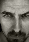 Close up portrait of man with deep eyes Royalty Free Stock Photos