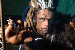 Close-up portrait of a man with dreadlocks in the skin Royalty Free Stock Images
