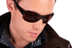 Close-up portrait of man in sunglasses Stock Photography