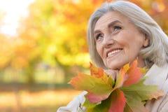 Close up portrait of mature woman Stock Photos