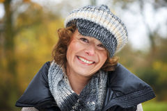 Close Up Portrait of a Middle Aged Woman Royalty Free Stock Photo