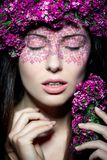 Close up portrait of model make up Royalty Free Stock Photo